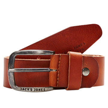 Jack And Jones - Ceinture Paul Leather Marron