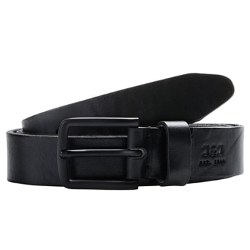 Jack And Jones - Ceinture Clee Leather Noir