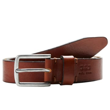 Jack And Jones - Ceinture Clee Leather Marron