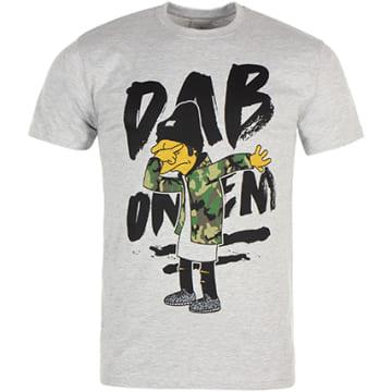 Thug N Swag - Tee Shirt Dab On Em Gris Chiné