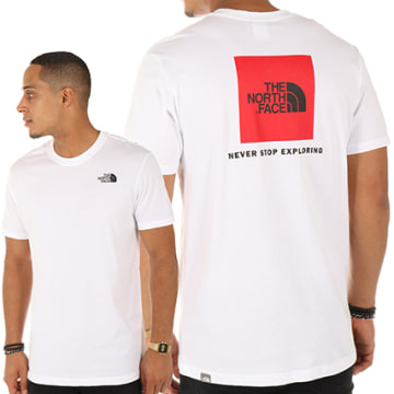 The North Face - Tee Shirt Red Box Blanc