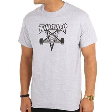 Thrasher - Tee Shirt Skategoat Gris Chiné