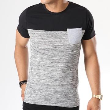 LBO - Tee Shirt Poche 24 Noir Anthracite