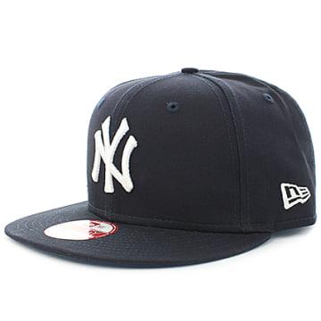 New Era - Casquette Snapback MLB New York Yankees Bleu Marine Blanc