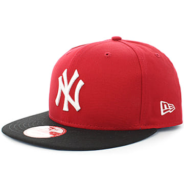 New Era - Casquette Snapback MLB Cotton Block New York Yankees Rouge Noir
