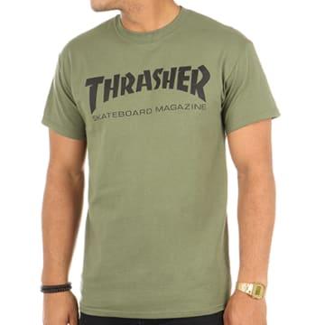 Thrasher - Tee Shirt Skate Mag Vert Kaki