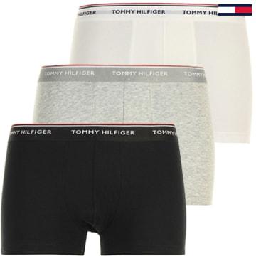 Tommy Hilfiger - Lot De 3 Boxers Premium Essentials Blanc Gris Noir