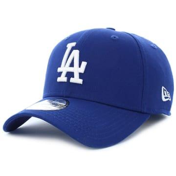 New Era - Casquette 39Thirty League Essential Los Angeles Dodgers Bleu Marine Blanc