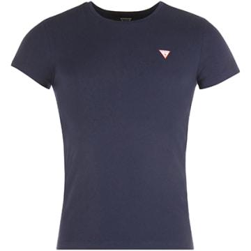Guess - Tee Shirt U77M08JR003 Bleu Marine