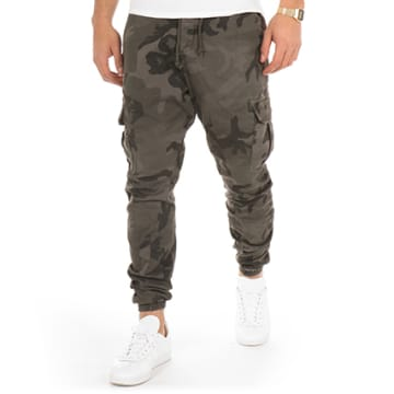 Urban Classics - Jogger Pant TB1611 Gris Anthracite Camouflage