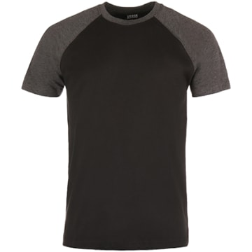 Urban Classics - Tee Shirt TB639 Noir Gris Anthracite Chiné