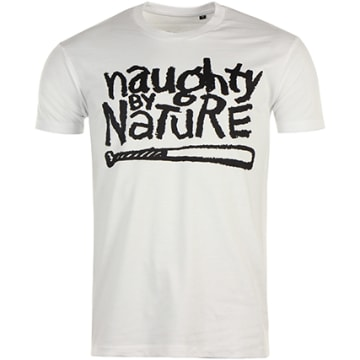 Naughty by Nature - Tee Shirt Naughty By Nature Logo Naughty Blanc