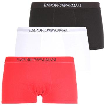 Emporio Armani - Lot De 3 Boxers 111610-CC722 Blanc Rouge Noir
