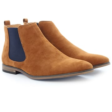 Chelsea Boots GH3026 Camel Navy