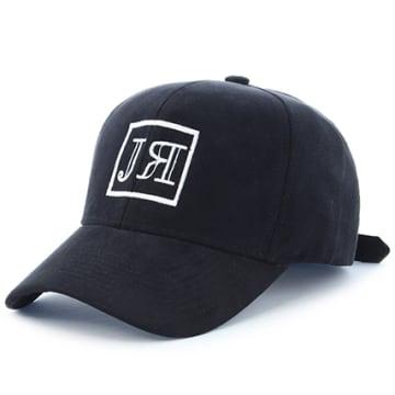 Casquette Logo Suede Noir