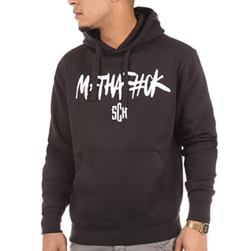 SCH - Sweat Capuche Mathafack Noir