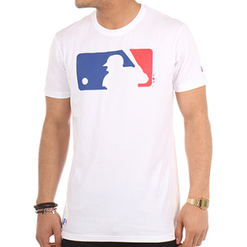 New Era - Tee Shirt MLB Logo Blanc