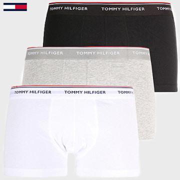 Lot De 3 Boxers Premium Essential Noir Gris Blanc