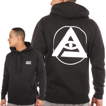 Thug N Swag - Sweat Capuche Back Logo Noir