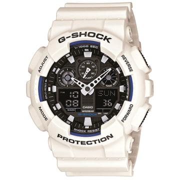 Casio - Montre G-Shock GA-100B-7AER Blanc