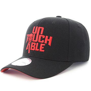 Untouchable - Casquette Skull Noir Rouge