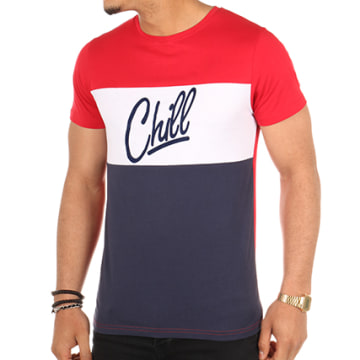 Tee Shirt Chill Tricolore Rouge Blanc Bleu
