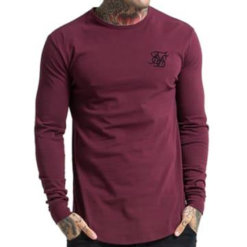 Tee Shirt Manches Longues Oversize Gym Bordeaux
