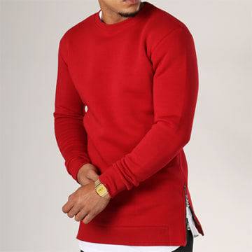 LBO - Sweat Crewneck Oversize Zip 199 Rouge