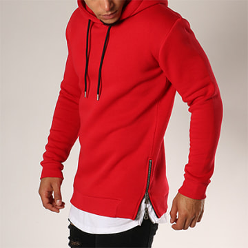 Sweat Capuche Oversize Zip 201 Rouge