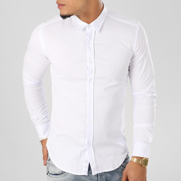 Chemise Manches Longues Slim Fit 112 Blanc
