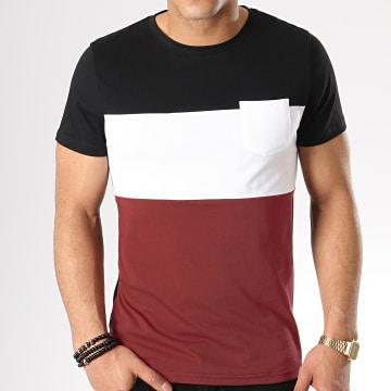 Tee Shirt Poche 210 Noir Blanc Bordeaux