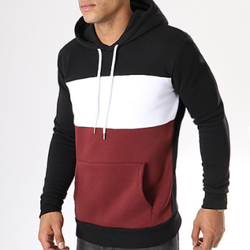 LBO - Sweat Capuche 212 Noir Blanc Bordeaux