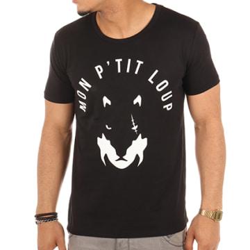 Fianso - Tee Shirt Mon P'tit Loup Noir Blanc