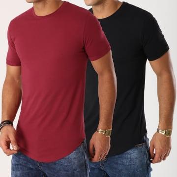 Lot de 2 Tee Shirts Oversize 251 Bordeaux et Noir