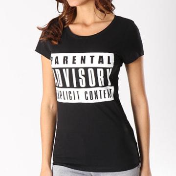Parental Advisory - Tee Shirt Femme Classic Logo Noir