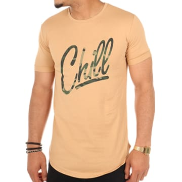 Tee Shirt Oversize Logo Chill Army Camel Camouflage