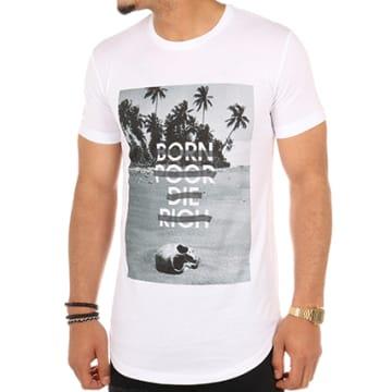 Luxury Lovers - Tee Shirt Oversize Born Poor Die Rich Blanc