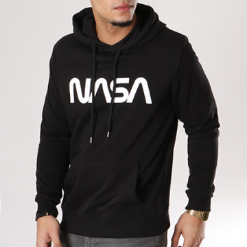 NASA - Sweat Capuche Worm Logo Noir