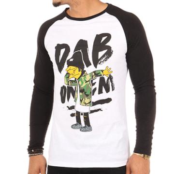 Thug N Swag - Tee Shirt Manches Longues Dab Blanc Noir