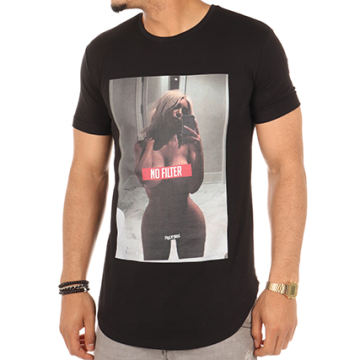 Thug N Swag - Tee Shirt Oversize No Filter Noir