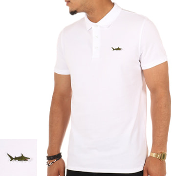 Luxury Lovers - Polo Manches Courtes Shark Blanc