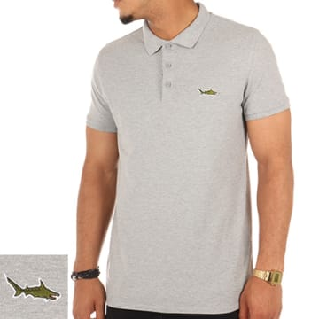 Luxury Lovers - Polo Manches Courtes Shark Gris Chiné