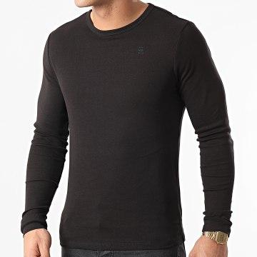 G-Star - Tee Shirt Manches Longues Classic D07204-124 Noir
