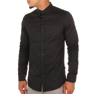 Only And Sons - Chemise Manches Longues Alfredo Noir
