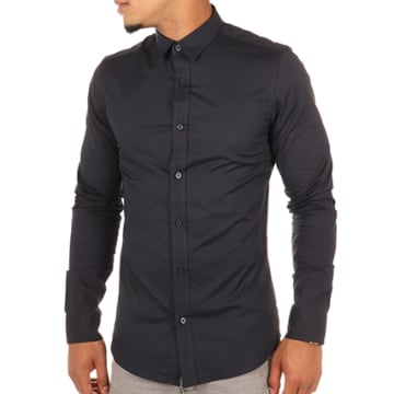 Only And Sons - Chemise Manches Longues Alfredo Bleu Marine