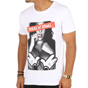 Thug N Swag - Tee Shirt Girl Blanc