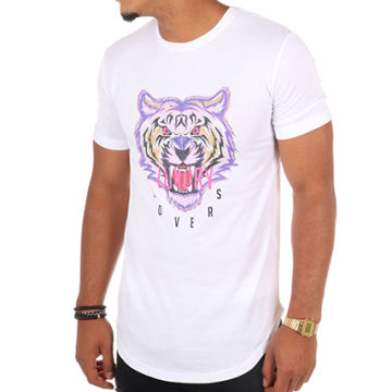 Luxury Lovers - Tee Shirt Oversize Tiger Blanc