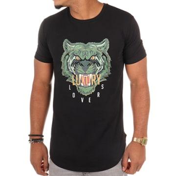 Tee Shirt Oversize Tiger Noir