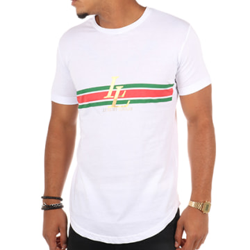 Luxury Lovers - Tee Shirt Oversize Stripes Blanc