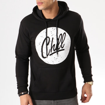 Luxury Lovers - Sweat Capuche Circle Chill Speckle Noir